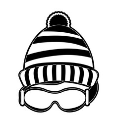 beanie hat and googles vector image