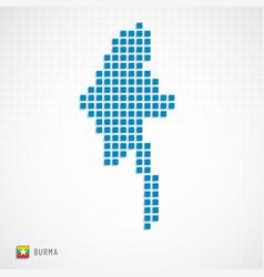 Burma map and flag icon vector