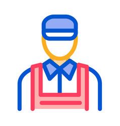 car repairman icon outline vector image