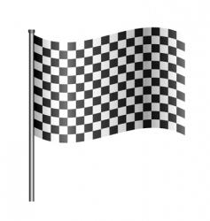 Checkered racing flag vector