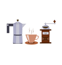 coffee maker hand windmill for coffee vector image