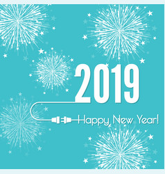 connecting to new year vector image
