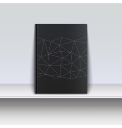 Cover book with techno pattern on a shelf vector image