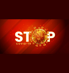 covid19-19 corona virus global pandemic lockdown vector image