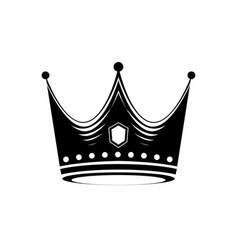 crown logo design template vector image