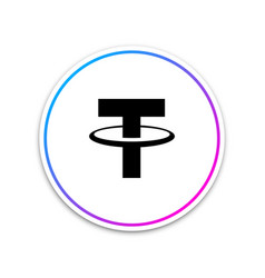 cryptocurrency coin tether usdt icon on white vector image
