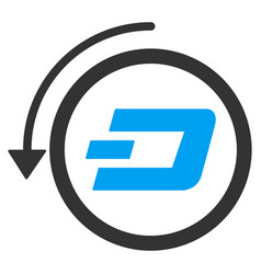 Dash revert payment flat icon vector