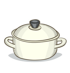 digital painting doodle pan vector image