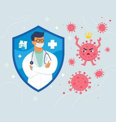 Doctor fight virus vector