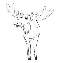 Doodle animal for moose vector