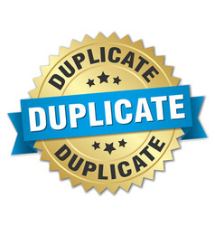Duplicate round isolated gold badge vector