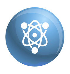 eco atom icon simple style vector image