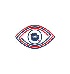 eye care health logo design template icon vector image
