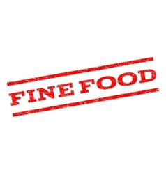 Fine Food Watermark Stamp vector image