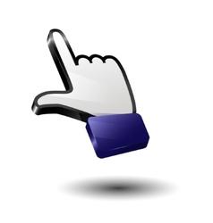 Finger icon arrow vector image