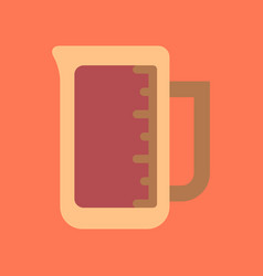 flat icon on background coffee measuring cup vector image