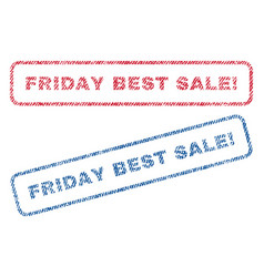 friday best sale exclamation textile stamps vector image