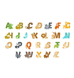 funny animal alphabet vector image
