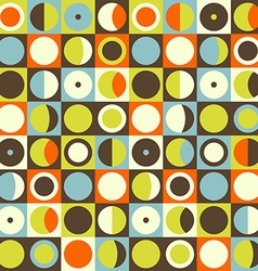 Geometric abstract seamless pattern Retro 60s vector