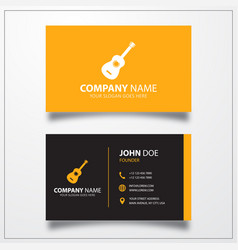 Guitar icon business card template vector