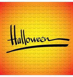 Halloween frame Hand lettering vector image