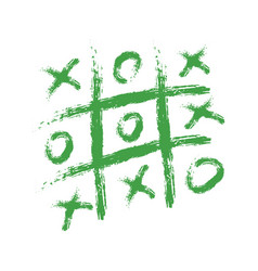 Hand drawing playing tic tac toe on paper vector