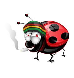 happy amaican lady bug cartoon vector vector image