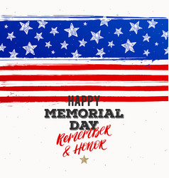 happy memorial day - national american holiday vector image