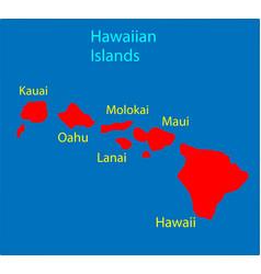 Hawaiian islands hawaii us state vector
