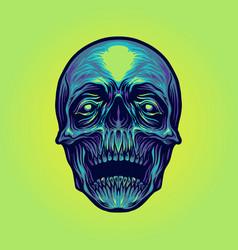 head sugar skull vector image
