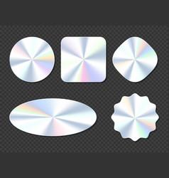 Holographic stickers hologram labels or emblems vector