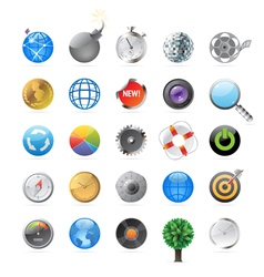 Icons for circles vector image vector image