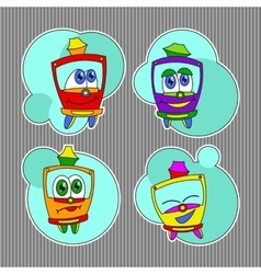 Kids trams set vector image