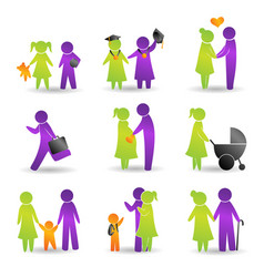 Life events icons vector