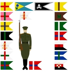 Linear icon Russian battalions vector image vector image