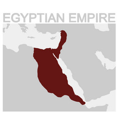 map of the egyptian empire vector image