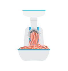 Meat grinder on white background in flat style vector