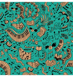 Musical seamless background Doodles pattern vector image