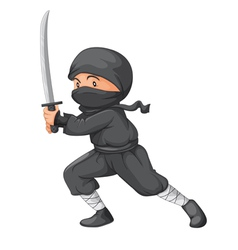 Ninja Posed vector image
