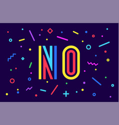 no banner poster and sticker concept geometric vector image