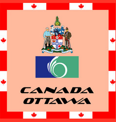 Official government elements of canada - ottawa vector