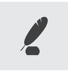 Pen and ink icon vector image