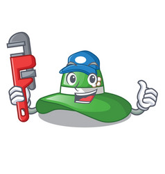 Plumber beach hat in the mascot closet vector