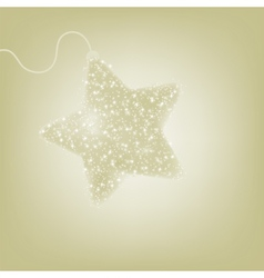 Postcard with a twinkling elegant star EPS 8 vector
