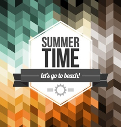 Seamless Geometric Pattern Summer Time vector