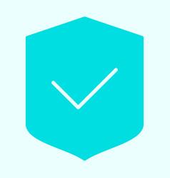 Security shield silhouette icon minimal pictogram vector