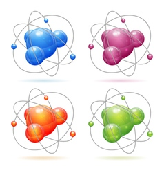 Set Atom Model vector image