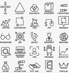 Set of seo and internet service icons - part 5 vector image