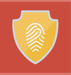 Shield and security system design vector