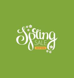 Spring sale seasonal offer poster template vector